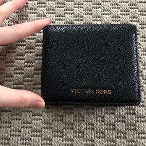 Micheal Kors mini foldable black wallet